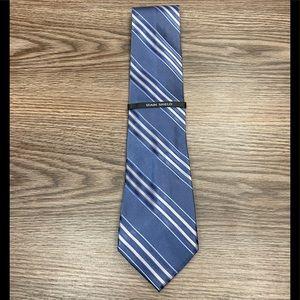 Van Heusen NWT Blue w/ Grey & White Stripe Tie